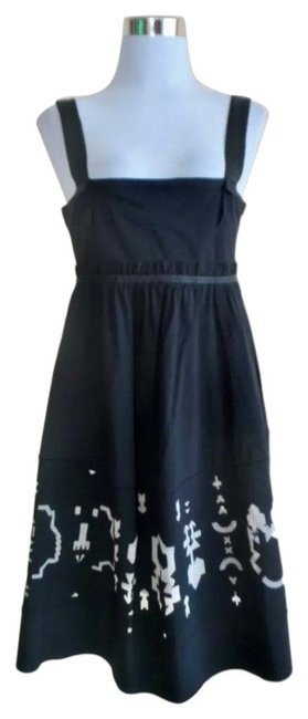 Item - Black Wide Straps Condition: Pre-owne Mid-length Night Out Dress Size 8 (M)