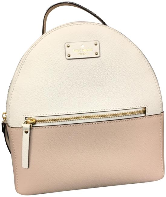 Item - New York Grove Street Sammi Two-tone Sand/Rose Color with Creme Leather Backpack