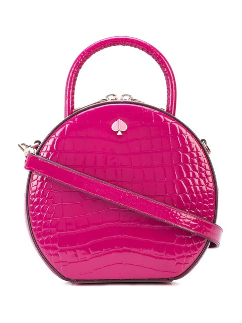 Item - Andi Croc Embossed Canteen New Pink Leather Cross Body Bag