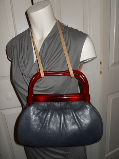 Other Vintage Leather Satchel in blue