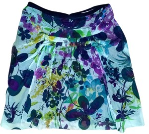 Weston Wear Silk Size 0 Skirt blue, light blue, green