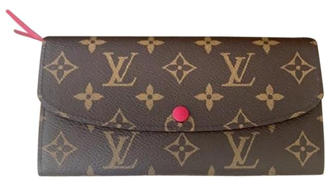 Item - Brown Emilie Clutch Wow 2021 New Monogram Fuchsia Rare Made In France Wallet