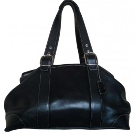 Preload https://item4.tradesy.com/images/coach-pockets-buttons-buckle-straps-black-leather-satchel-29698-0-0.jpg?width=440&height=440