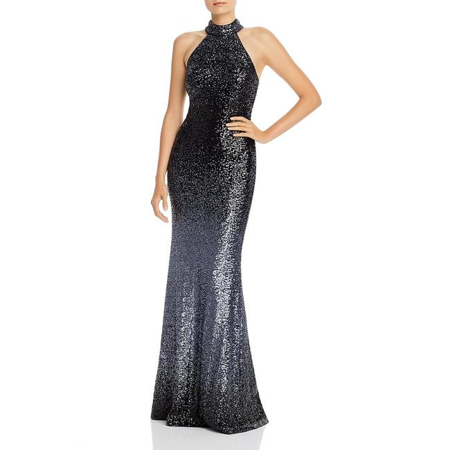 Item - Black and Gunmetal Ombre Sleeveless Sequin Gown Long Formal Dress Size 8 (M)