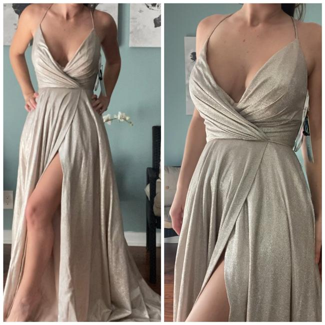 Item - Silver Over Nude 52977 Long Formal Dress Size 2 (XS)