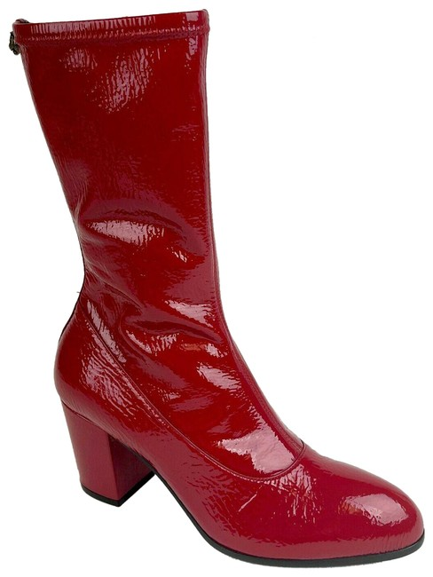 Item - Red Soft Patent Leather Zip-up 37.5 / 548859 6433 Boots/Booties Size US 7.5 Regular (M, B)