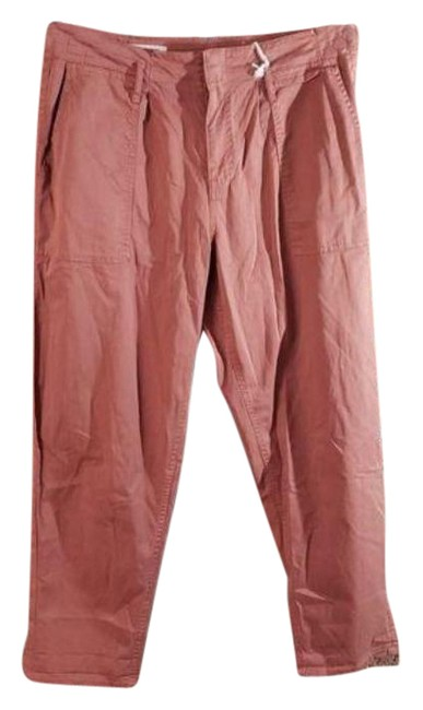 Item - Orange Brown High Rise Cropped Pleated Pants Size 12 (L, 32, 33)