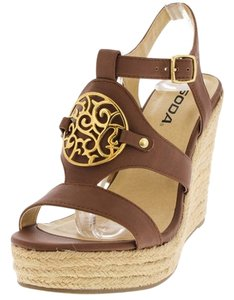 Soda Blu Brown Wedges
