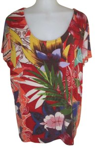 Chico's Top Multi-colored Floral pattern