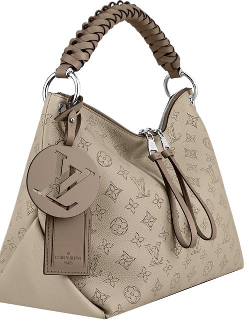 Item - Hobo Mahina Beauborg Perforated with Adj Strap Galet/Beige Not Grey Calf Leather Shoulder Bag
