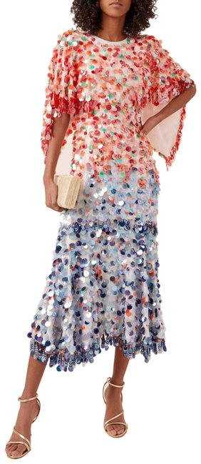 Item - Multiple Multicolor Sequined Long Night Out Dress Size 6 (S)