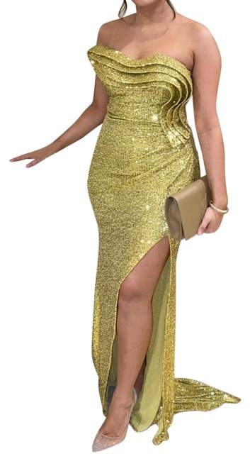 Item - Yellow Gown Long Formal Dress Size 8 (M)