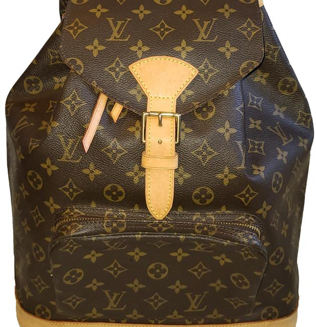 Item - Montsouris Gm Large Monogram Canvas Brown Leather Backpack