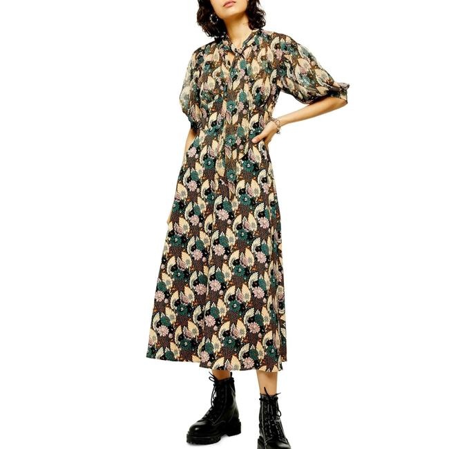 Item - Green Multi New Floral Print Mid-length Casual Maxi Dress Size 8 (M)