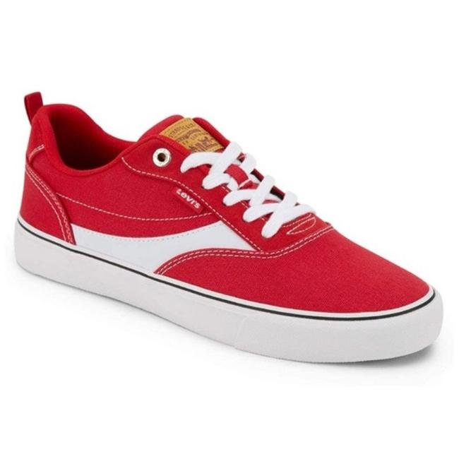 Item - Red White Women's Canvas Sneakers Size US 6 Regular (M, B)