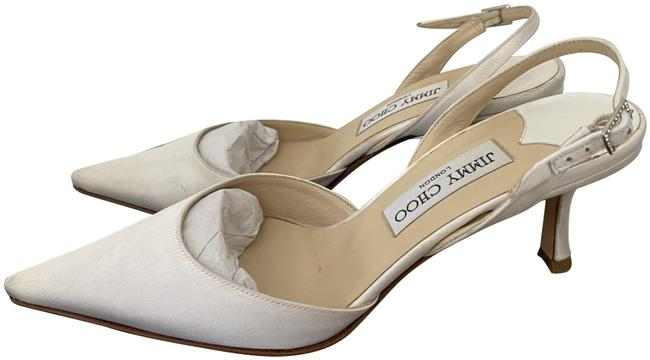 Item - White Tilly Pointed Toe Slingback Sandals Size EU 38 (Approx. US 8) Regular (M, B)