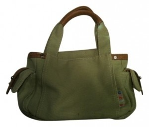 Fossil Tote in Light Green