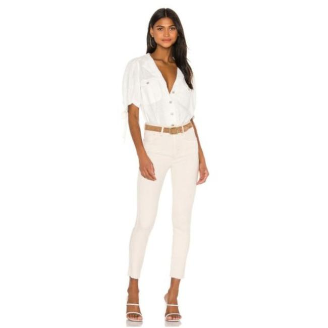 Item - Beige Light Wash High Rise Ivory Skinny Casual Stretch Jeggings Size 24 (0, XS)