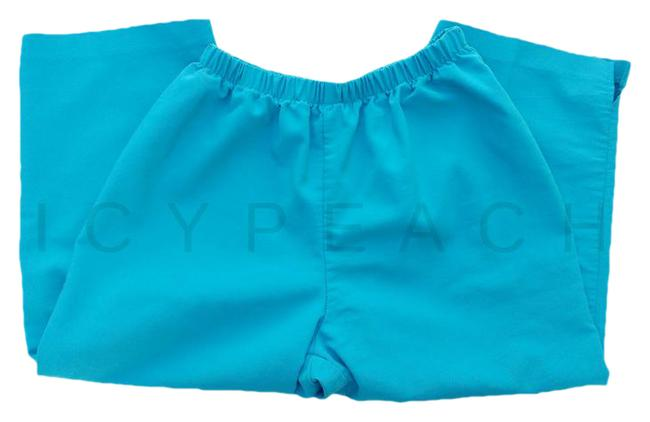 Item - Shade Of Blue/Turquoise Vtg 90's Mom Pants High Waist S Capris Size 6 (S, 28)
