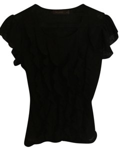 The Limited Ruffle Top Black