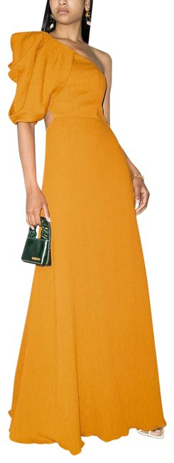 Item - Yellow Cutout Back One Shoulder Night Out Dress Size 10 (M)
