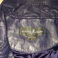 Guess Navy Leather Jacket Size 4 (S) Guess Navy Leather Jacket Size 4 (S) Image 2