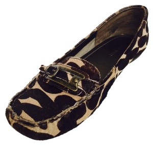 Nine West Brown Pony Flats