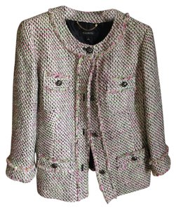 Talbots Pink Green Black multi Blazer