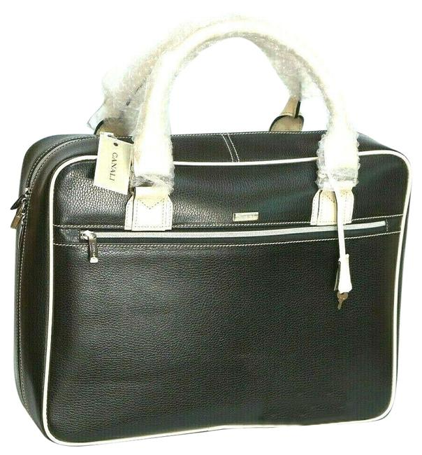Item - Overnight Carry-on Case Black Leather Weekend/Travel Bag