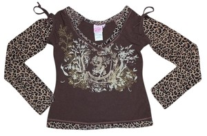 Lipstik Girls Kids Child Size Animal Leopard Print Leo Haute Couture Madonna Designer Top Lipstik Girls Boutique Brand