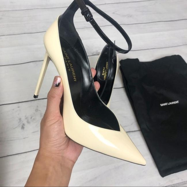 Item - Off White 105mm Zoe Patent Leather Pumps Size EU 37.5 (Approx. US 7.5) Regular (M, B)