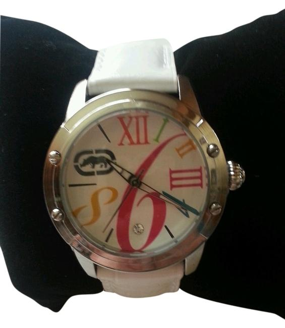 Marc Ecko Multicolored White New Rhino By Pink Leather Band Watch Marc Ecko Multicolored White New Rhino By Pink Leather Band Watch Image 1