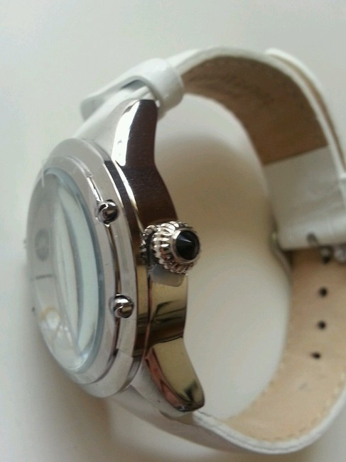 Marc Ecko Multicolored White New Rhino By Pink Leather Band Watch Marc Ecko Multicolored White New Rhino By Pink Leather Band Watch Image 6