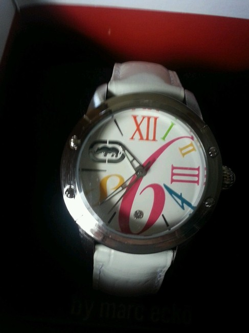 Marc Ecko Multicolored White New Rhino By Pink Leather Band Watch Marc Ecko Multicolored White New Rhino By Pink Leather Band Watch Image 7