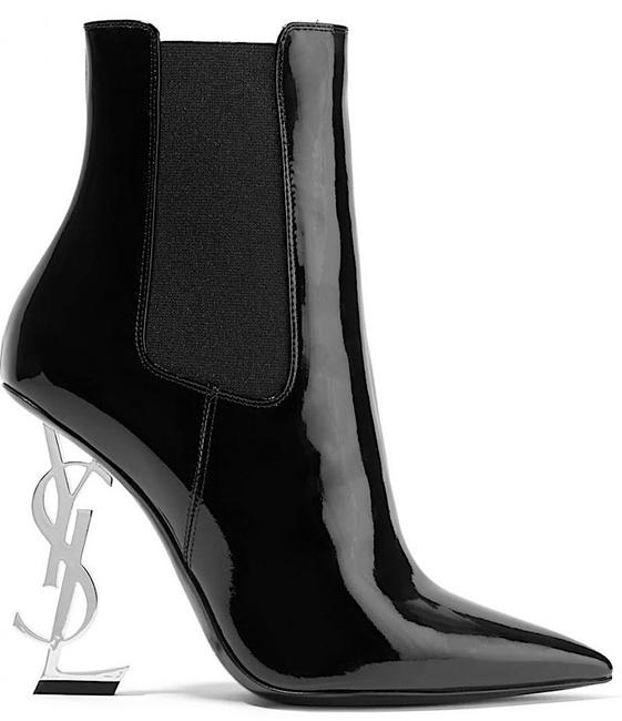 Item - Black New Ysl Opyum Patent Leather Boots/Booties Size EU 38 (Approx. US 8) Regular (M, B)