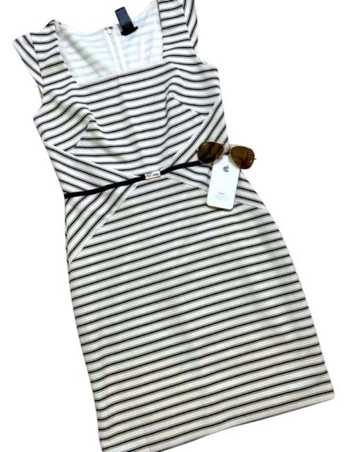 Item - Black and White No Mid-length Work/Office Dress Size 4 (S)