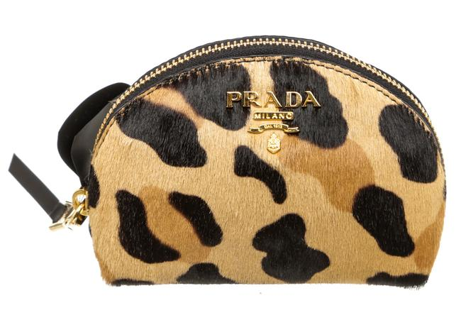 Item - Brown 506903 Pony Hair Animal Print Coin Purse Wallet