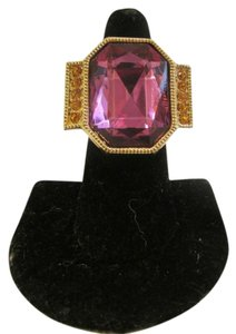 Big and Bold Pink Crystal Ring Size 9