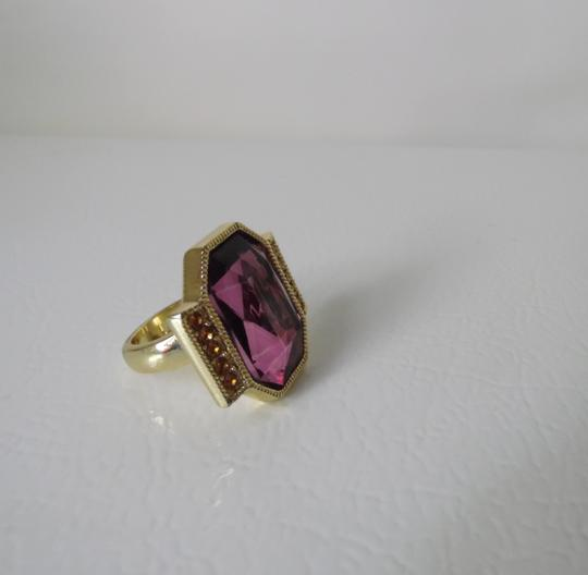 Other Big and Bold Pink Crystal Ring Size 9
