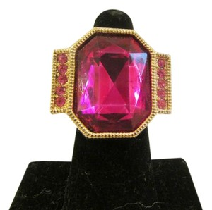 Other Big and Bold Cherry Red Crystal Ring Size 8