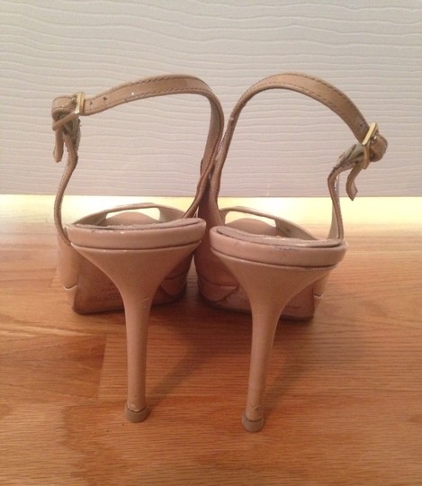 Jimmy Choo Nude Patent Leather Pumps