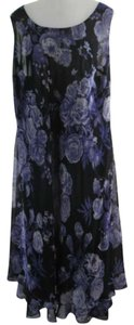 Blue & Purple Floral pattern Maxi Dress by Eva Blue