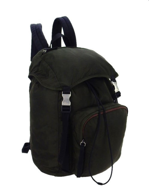 Item - Camp Hiking Style Drawstring Sport Dark Green Tessuto Nylon and Leather Backpack