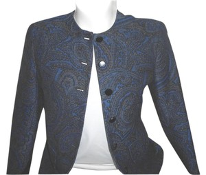 Jones New York 100% Wool Paisley Blazer