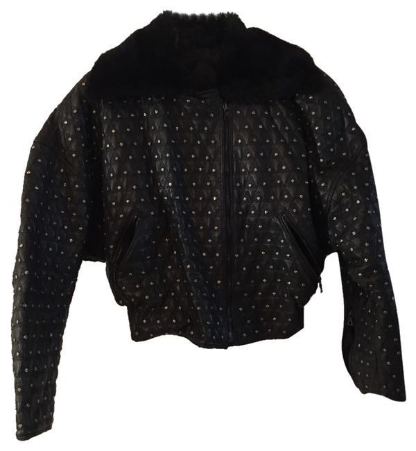 Preload https://item1.tradesy.com/images/versace-black-motorcycle-leather-quilted-stud-size-4-s-2971855-0-0.jpg?width=400&height=650