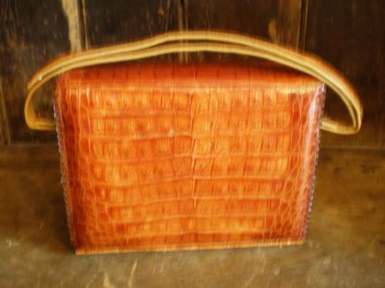 Other Wonderful Red Leather Interior Vintage 1960's Shoulder Bag