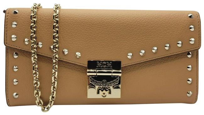Item - Patricia Studded Chain Wallet Myl9apa40bc001 Beige Leather Cross Body Bag