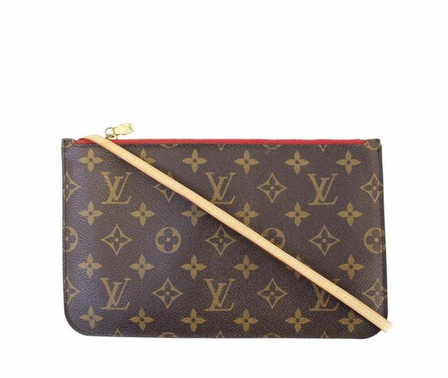 Item - Pochette Neverfull New Pouch Red Cherry Lining Monogram Canvas Clutch