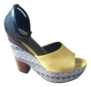 Anthropologie Yellow Wedges