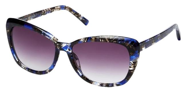 Matthew Williamson Blue Abstract 63 Angled Acetate Cat Eye Frame Sunglasses Matthew Williamson Blue Abstract 63 Angled Acetate Cat Eye Frame Sunglasses Image 1